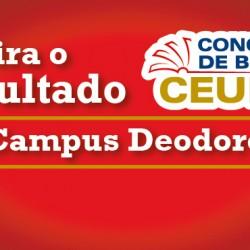 Resultado do Concurso de Bolsas para o Campus Deodoro