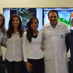 A ccord. do curso de Eng. de petróleo, profa. Me. Cintia Leite, Any Caroline Lacerda de Rezende , Larissa Alves da Silva , prof.Dr. Fabrício Brito e Elioenay Santiago de Sousa.